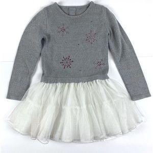 Tahari Girls Snowflake Sweater Dress Sz L (6x)